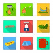 Isolated Object Of Tourism And Excursions Icon. Collection Of Tourism And Rest Vector Icon For Stock poster