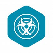 Sign Of Biological Threat Icon. Simple Illustration Of Sign Of Biological Threat Icon For Web poster