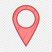 Map Pointer Pin Icon. Cartoon Illustration Of Map Pointer Pin Icon For Web poster