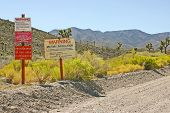The Signs At The Entrance To Area 51, Groom Lake, Nevada poster