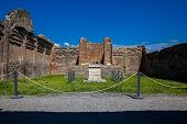Temple Of Genius Augusti At The Ancient City Of Pompeii poster