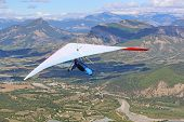 Hang Glider Flying On The Chabre Mountain, France poster