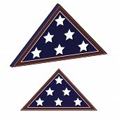 Memorial Flag In Flat And 3d Views. Military Ammo Uniform Element. To Design Banners For National Us poster