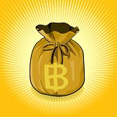 Gold Bag Of Money Save For Success.