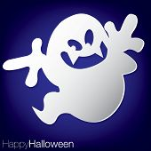 picture of freaky  - Concave ghost Halloween card in vector format - JPG