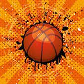 Vector Grunge Illustration Of Basket Ball