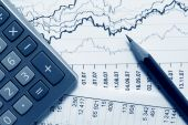 stock photo of stock market data  - Financial balance and stock market data reports - JPG
