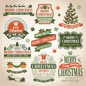 stock photo of christmas claus  - Christmas collection of design elements - JPG