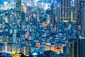 image of overpopulation  - Cityscape in Hong Kong - JPG