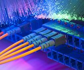 picture of cisco  - Technology center with fiber optic equipment - JPG