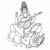 picture of kali  - Hindu Goddess Saraswati - JPG
