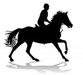 stock photo of horse-riders  - Rider - JPG