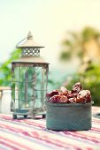 picture of nomads  - Ramadan Lamp and dates fruit still life - JPG