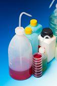 image of dispenser  - laboratory Wash Bottles for science experiment - JPG