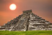 stock photo of mayan  - Ancient Mayan pyramid - JPG