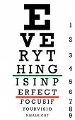 Eye Chart Perfect Focus