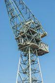 picture of polonia  - Shipyard crane also called portal crane in Gdansk Poland - JPG