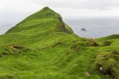picture of faroe islands  - Landscape on the island Mykines - JPG