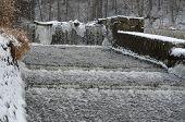 pic of bohemia  - dam on river Nezarka South Bohemia Czech Republic - JPG