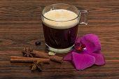 foto of cardamom  - Espresso with orchid beans cinnamon star - JPG