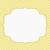 pic of chevron  - Yellow and White Chevron Zigzag Frame Background with center for copy - JPG