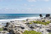 picture of gulf mexico  - View of the east coast Isla Mujeres - JPG