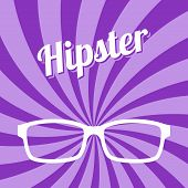 stock photo of cheater  - hipster glasses art theme vector graphic illustration - JPG