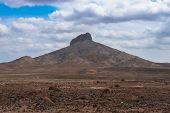 pic of arid  - Desert Arid landscape in Sal Island Cape Verde  - JPG