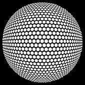 stock photo of dots  - Dotted halftone sphere - JPG