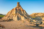 pic of unique landscape  - Unusual and unique landscape at Bardenas reales Navarra Spain - JPG