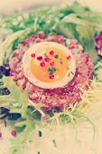 picture of tartar  - Beef tartare in plate - JPG