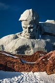 foto of brest  - A monument to Soviet soldiers liberators of the Brest Fortress in Belarus - JPG