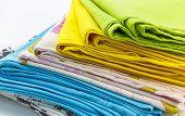 stock photo of pillowcase  - pillowcases on a white background studio isolated - JPG