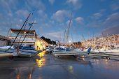 foto of piraeus  - Dawn in Mikrolimano marina in Athens - JPG
