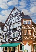 stock photo of timber  - historic house with timber frame construction saarland germany - JPG