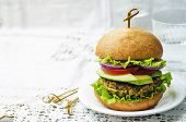 image of millet  - spicy vegan curry burgers with millet chickpeas and herbs - JPG