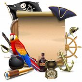pic of compasses  - Pirate Frame including old scroll - JPG