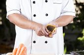 picture of pork  - Chef presented curry pasted and ingredient of Japanese pork curry paste / cooking Japanese pork curry paste concept ** Note: Shallow depth of field - JPG
