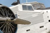 foto of propeller plane  - Old fashioned plane with propeller detail - JPG