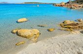 foto of shoreline  - Conca Verde shoreline on a clear day Sardinia - JPG