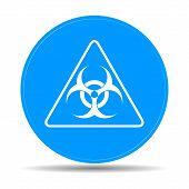 picture of biological hazard  - Vector biohazard sign or icon flat Illustration - JPG