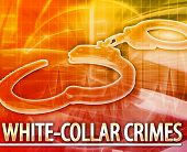 image of white collar crime  - Abstract background digital collage concept illustration white - JPG