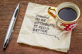 picture of handwriting  - choose to be optimistic - JPG