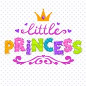 picture of princess crown  - Cute vector illustration for girls t - JPG