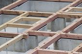 pic of foundation  - foundation construction foundation works in residential area in Tokyo  - JPG
