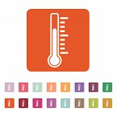 foto of thermometer  - The thermometer icon - JPG