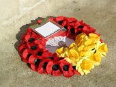 image of legion  - Remembrance day poppy wreath for the fallen military personal - JPG