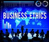 picture of morals  - Business Ethics Moral Responsibility Business Concept - JPG