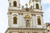 pic of hungarian  - Part of Saint Anne Church or Hungarian Szent Anna templom on Batthyany Square in Budapest - JPG