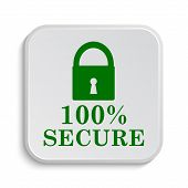 picture of 100 percent  - 100 percent secure icon - JPG